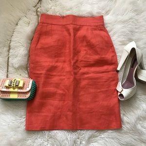 Valentino boutique vintage peach color skirt